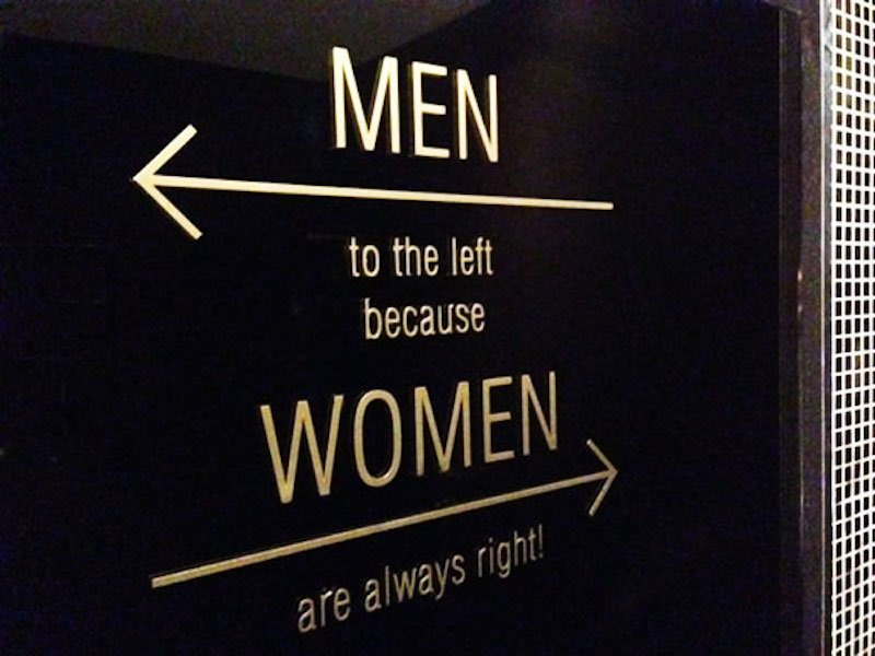 10 Of The Best Bathroom Signs Ever