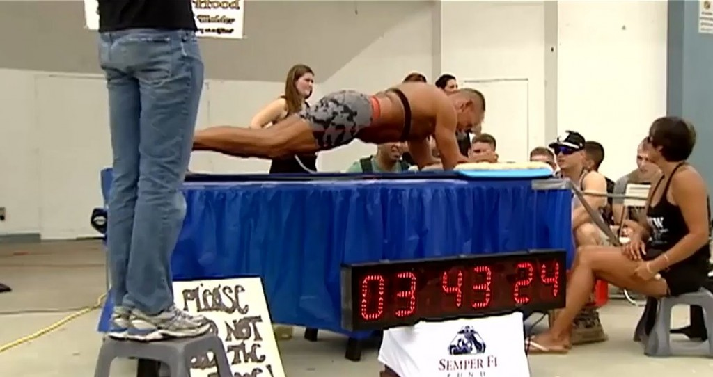 Ex-Marine Breaks Planking World Record For Charity