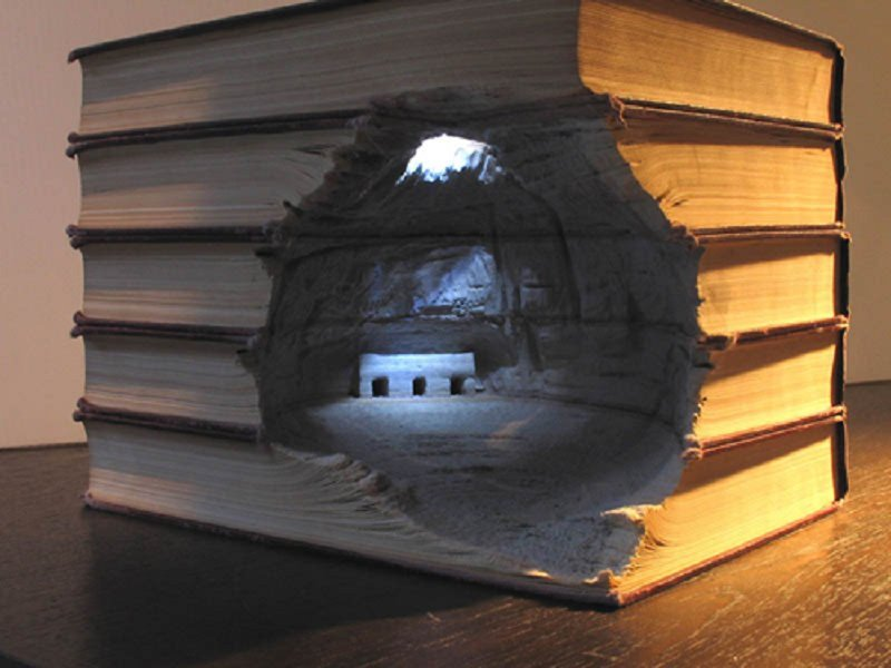 10 Brilliant Landscapes Carved Into Books