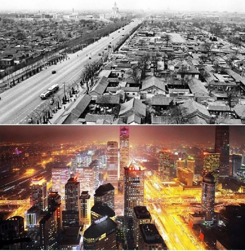 10 Incredible Before And After Pictures Of Famous Cities