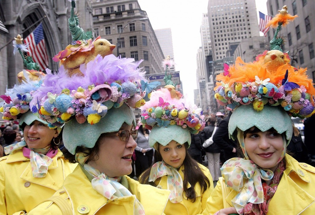 Easter Parade garb has gotten a little cracked with these egg hats. They re  so busy it s hard to figure out what is going on there. 60d9234cac18