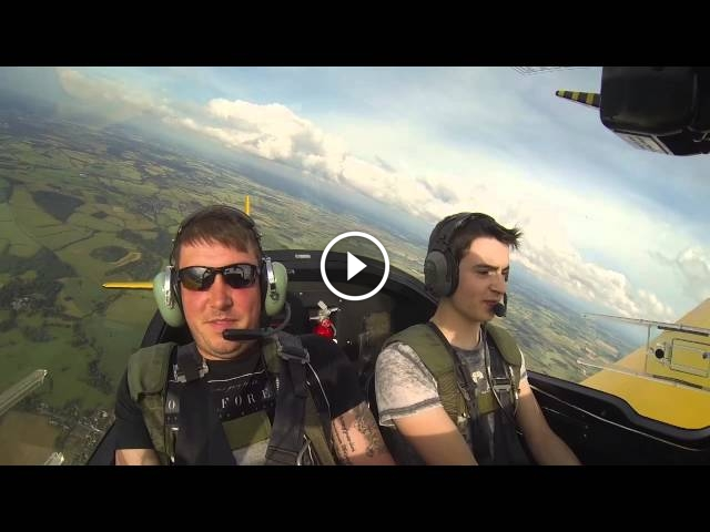 Acrobatic Pilot Scares Friends With Tricks