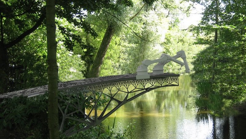 Amazing Robots Set To Build Bridge By Themselves