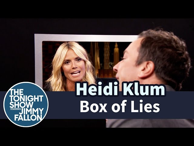 Heidi Klum Plays 'Box Of Lies' With Jimmy Fallon
