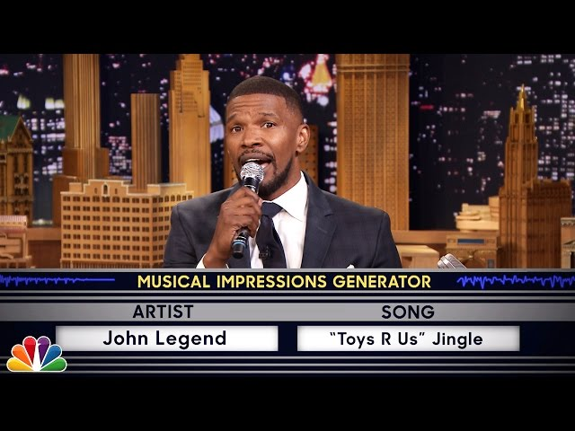 Jamie Foxx Does Hilarious John Legend Impression On The Tonight Show