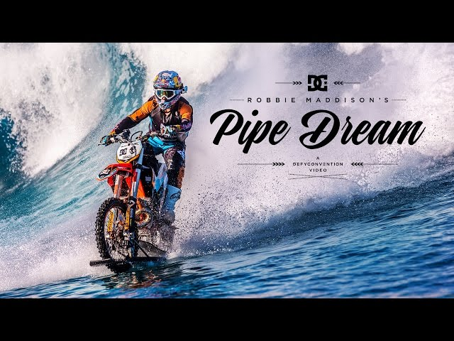 Stunt Biker Ignores Physics And Rides On Massive Waves