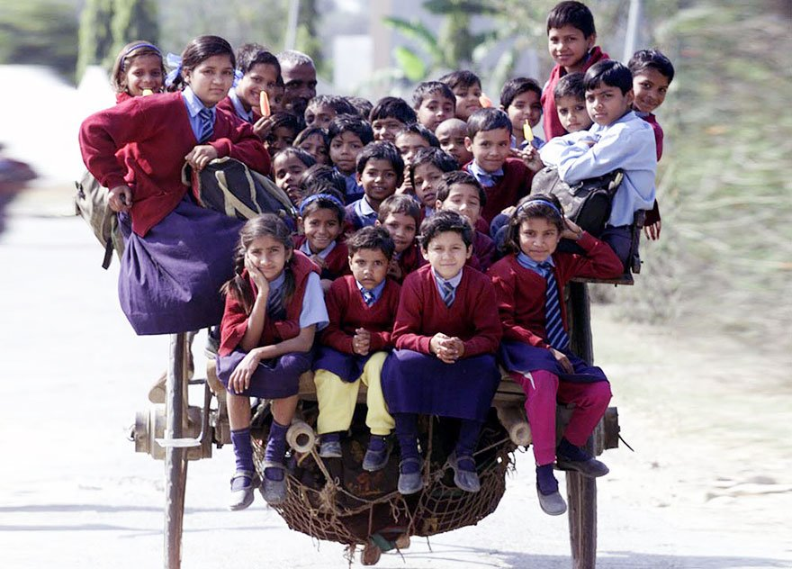 10 Amazing Journeys Children Make To Get To School