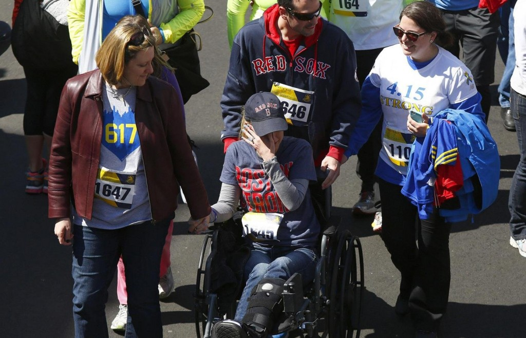 Boston Bombing Survivor Rebekah Gregory Hits The Boston Marathon On A Prosthetic Leg