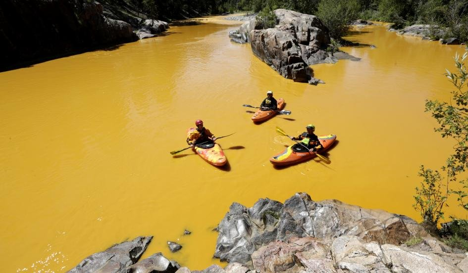 Colorado River Turns Yellow Due To Wastewater Spill