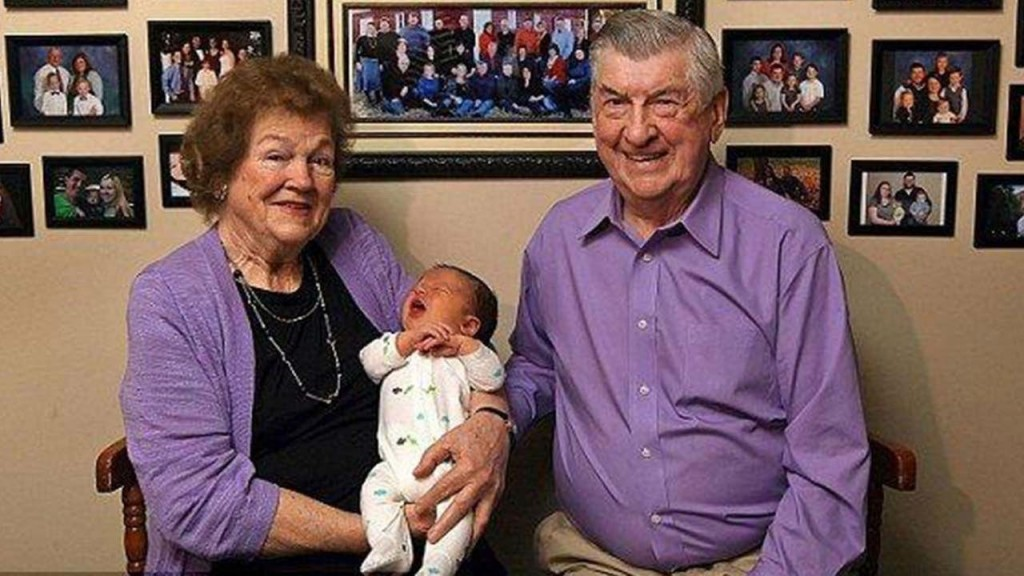 Elderly Couple Welcomes 100th Grandchild To Family