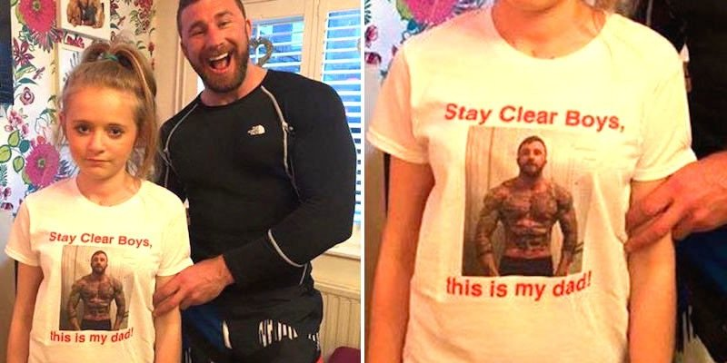 Father Sends Daughter To School In A T-Shirt Warning Boys To Stay Away