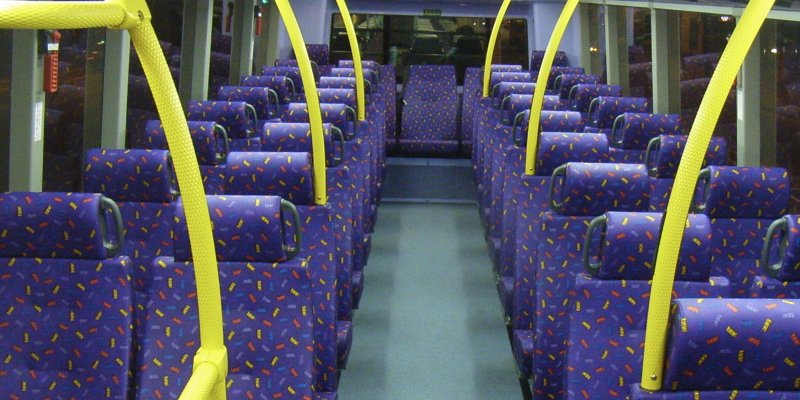 The Real Reason Why Bus Seats Are Designed with Ugly Multicolor Patterns