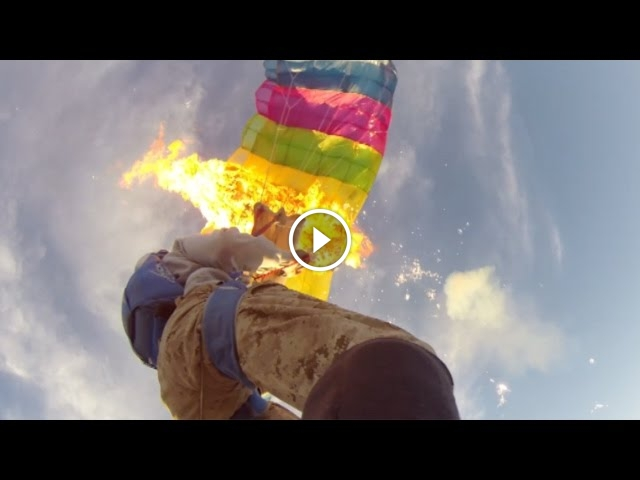 Two Guys Set Fire To Their Parachutes, You Wouldn't Believe Why