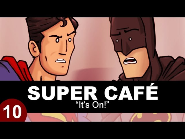 Watch Superman And Batman Square Off At Super Cafe