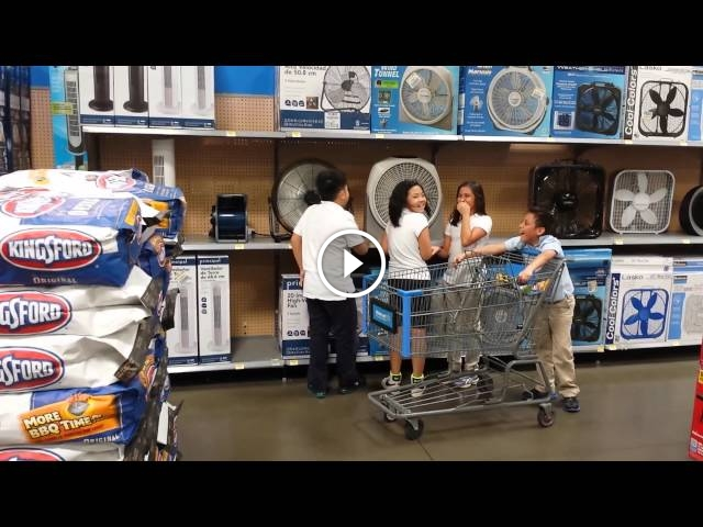 You'll Never Guess What These Kids Are Doing In Walmart