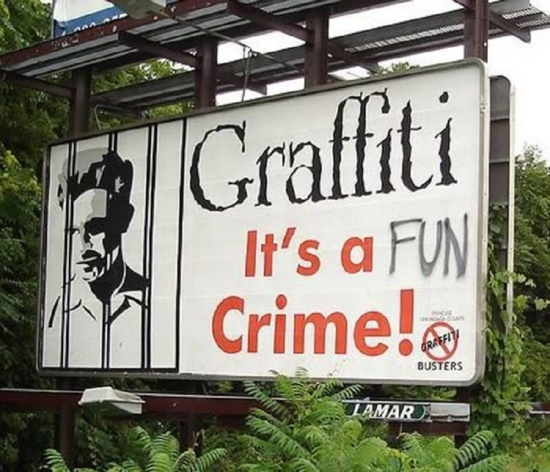 10 Hilarious Cases Of Graffiti On Signs