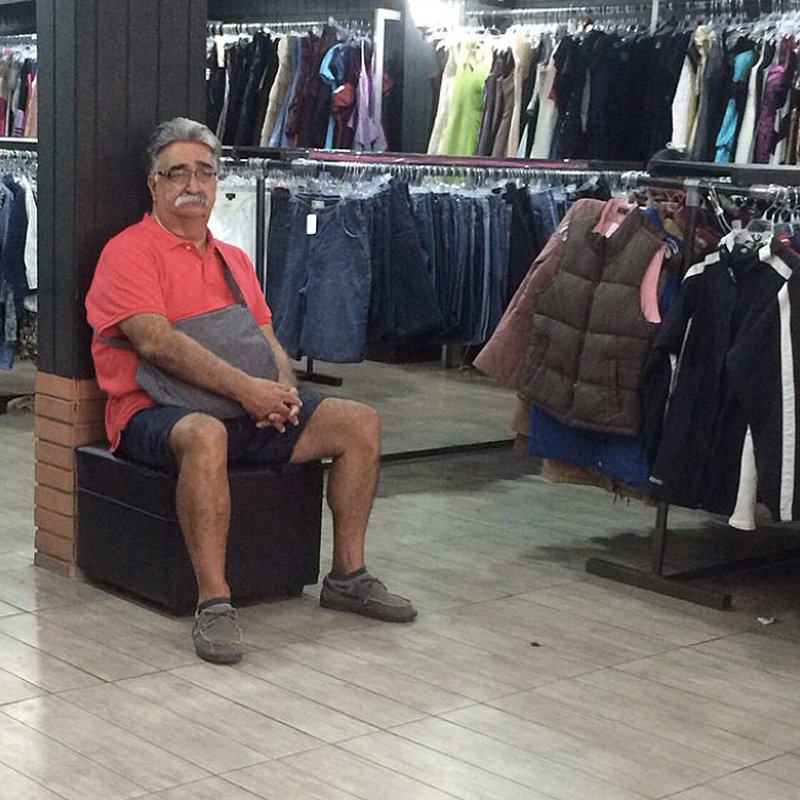 10 Photos Of Miserable Men In Shopping Malls