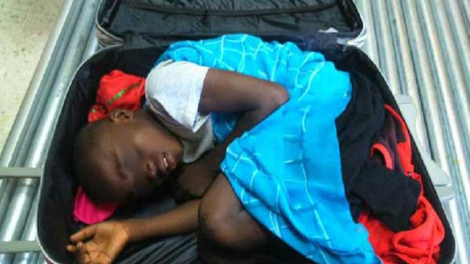 Border Crossing X-Ray Reveals Boy Inside Of Suitcase