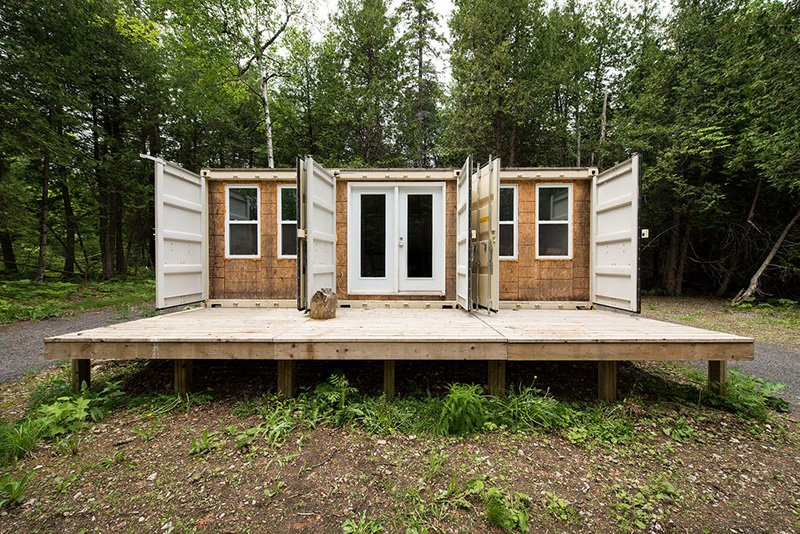 This Cabin Is Built Out Of 3 Shipping Containers, Wait Till You See Inside!
