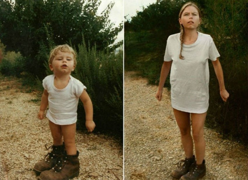 10 Adults Who Hilariously Recreated Their Childhood Photos