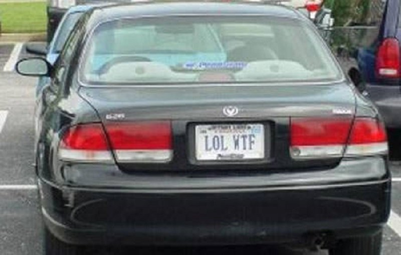 10 Interesting And Funny License Plates