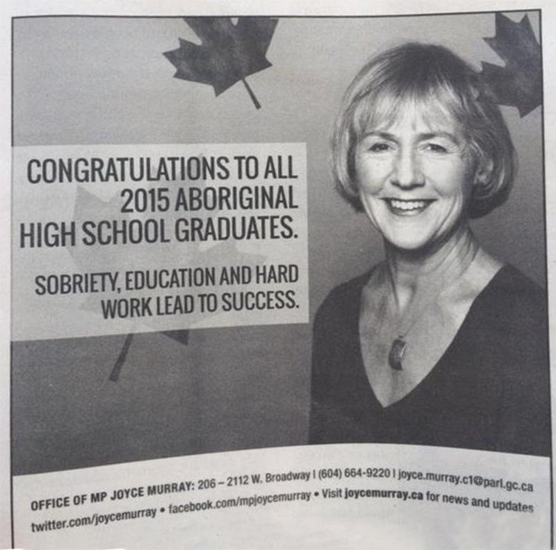 Canadian Liberal MP Apologizes For Offensive Ad In First Nations Newspaper