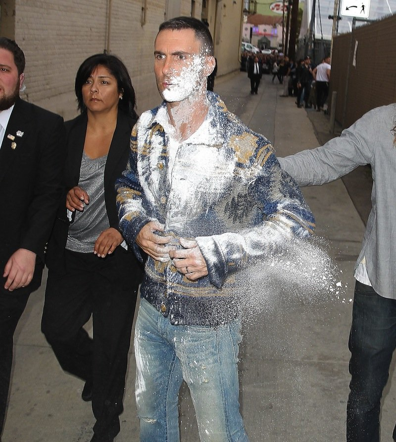Maroon 5's Adam Levine Gets Sugar Bombed