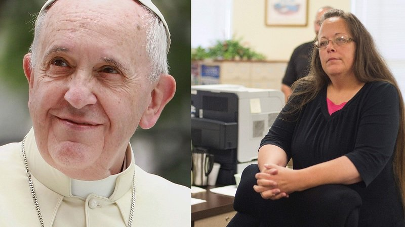 Pope Meets Gay Marriage Clerk Kim Davis